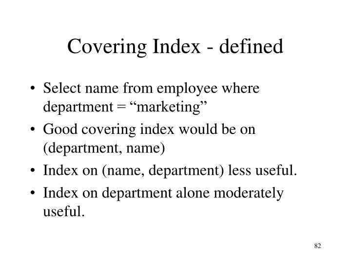 Covering Index - defined