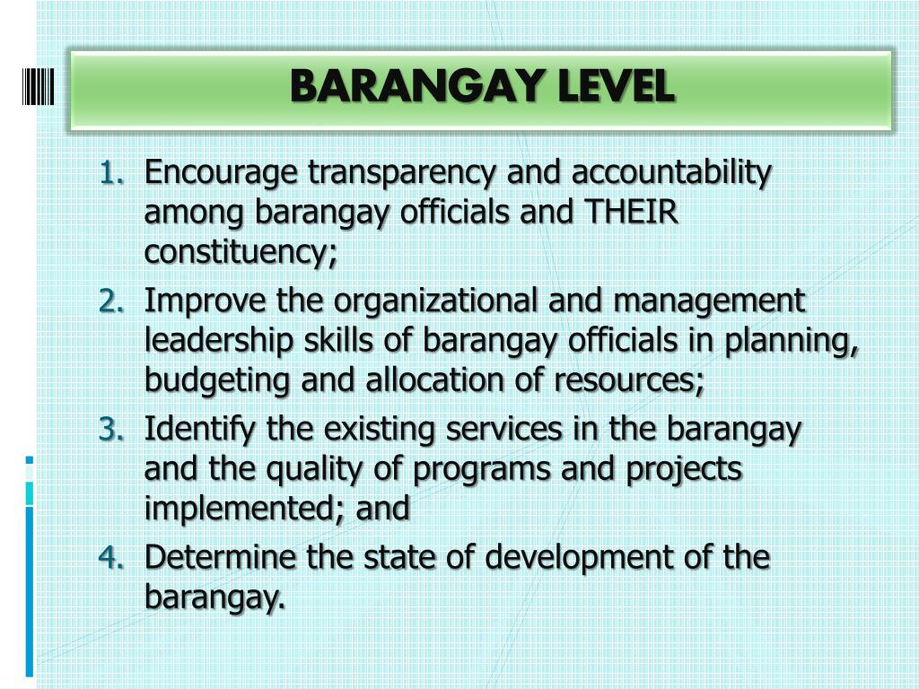 PPT - Barangay Governance Performance Management System