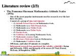 literature review 2 3