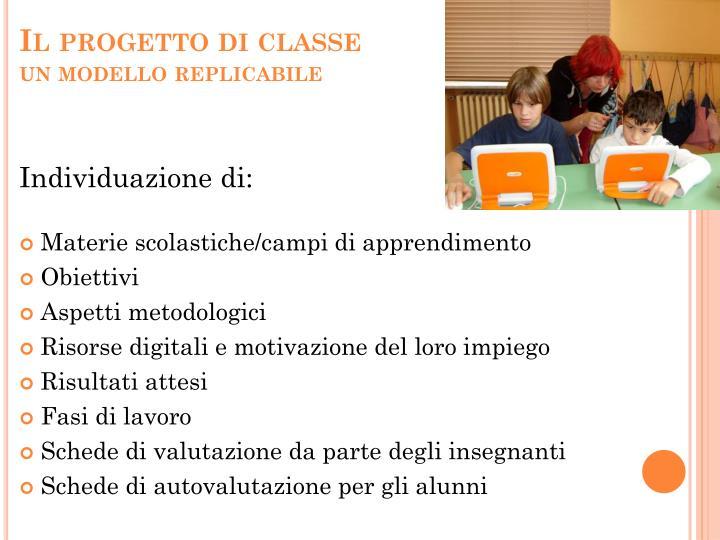 Il progetto di classe