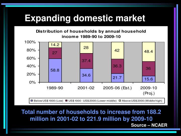 Expanding domestic market