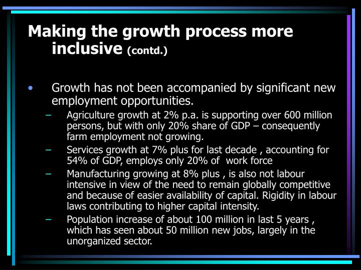 Making the growth process more inclusive