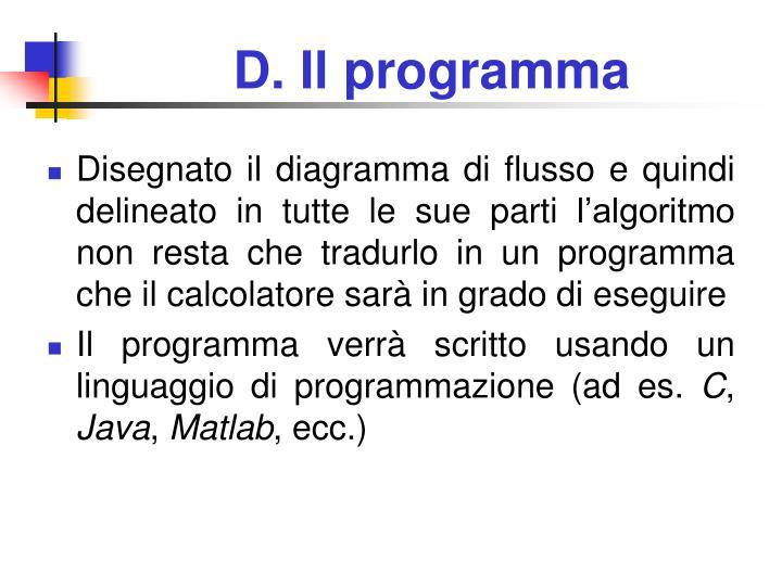 D. Il programma