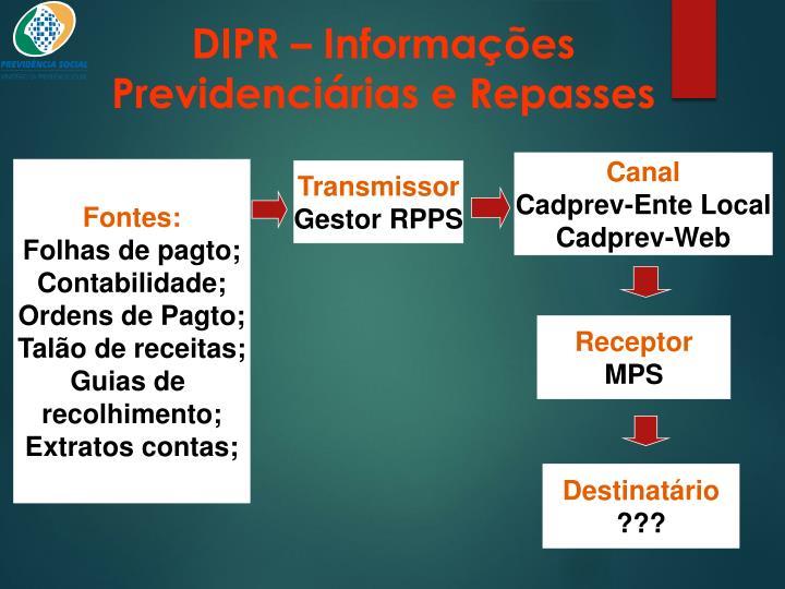 DIPR – Informações Previdenciárias e Repasses