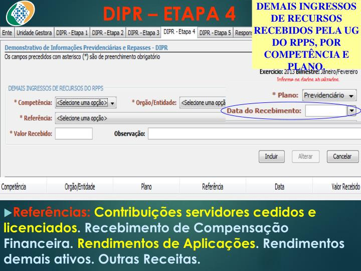 DIPR – ETAPA 4