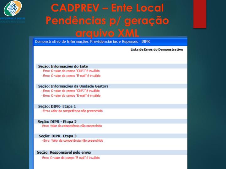 CADPREV – Ente Local
