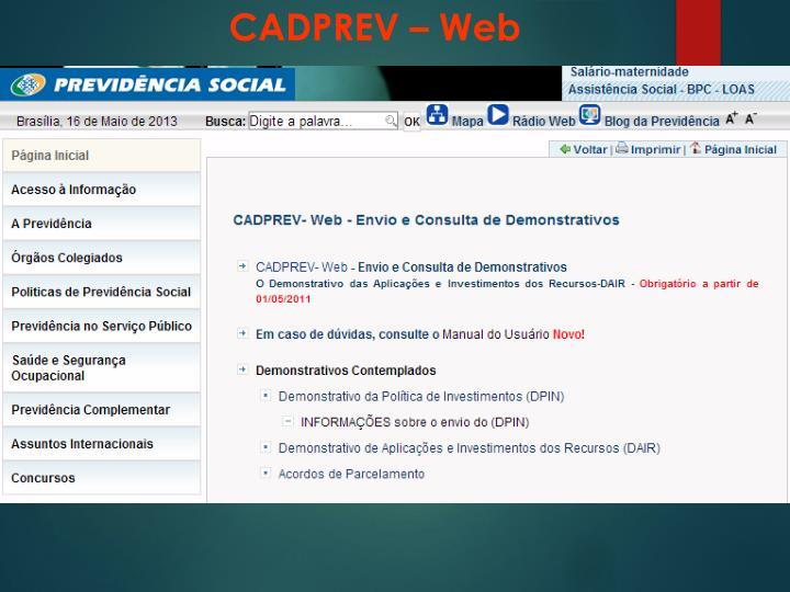 CADPREV – Web