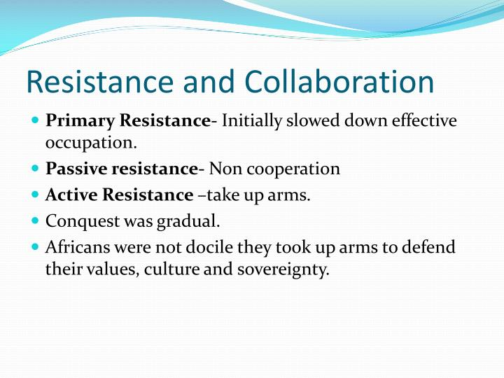 resistance and collaboration n.