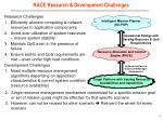 race research development challenges