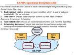 sa pop operational string generation