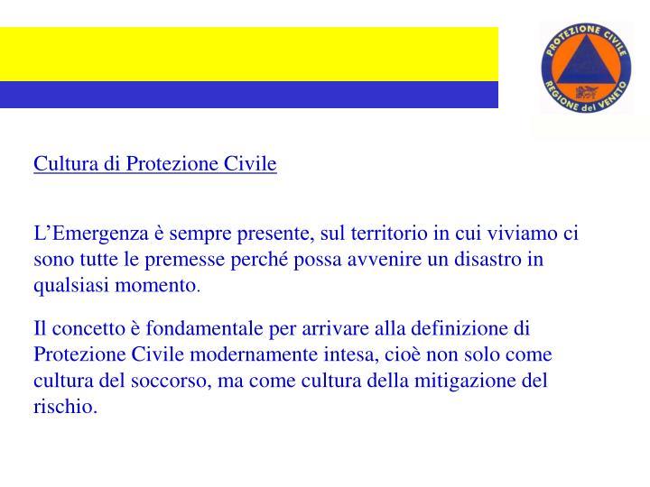 Cultura di Protezione Civile