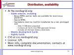 distribution availability