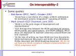 on interoperability 2