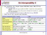 on interoperability 3