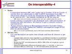 on interoperability 4