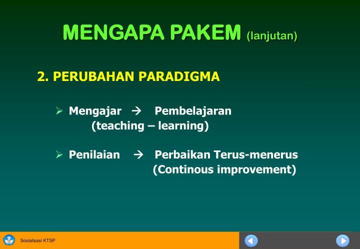2 perubahan paradigma