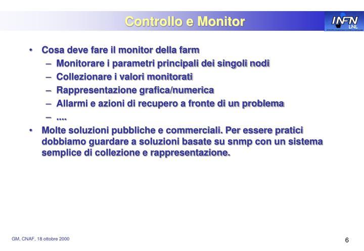 Controllo e Monitor