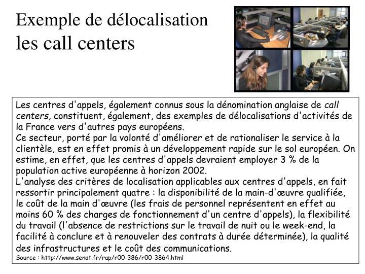 Exemple de délocalisation