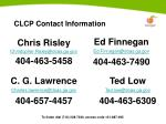 clcp contact information