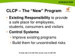 clcp the new program
