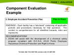 component evaluation example