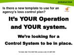 is there a new template to use for an agency s loss control plan