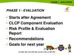 phase 1 evaluation