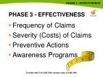 phase 3 effectiveness