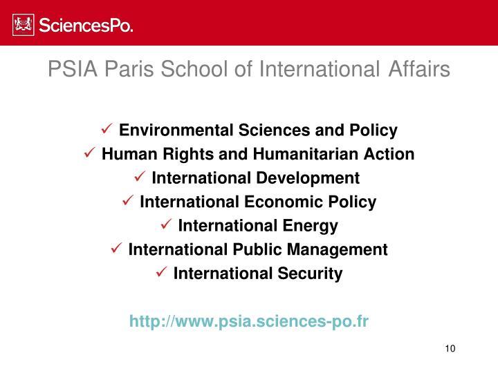 PSIA Paris School of International