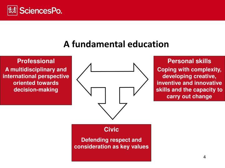 A fundamental education