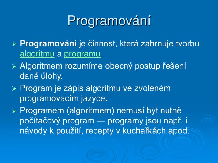 Programov n