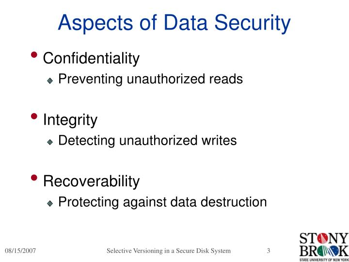 Aspects of data security