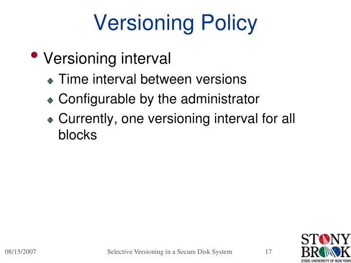 Versioning Policy