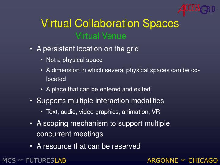 Virtual Collaboration Spaces