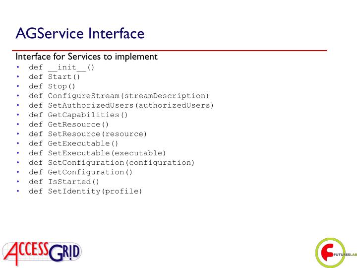 AGService Interface