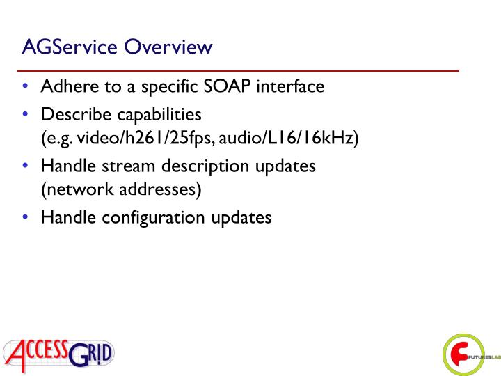 AGService Overview