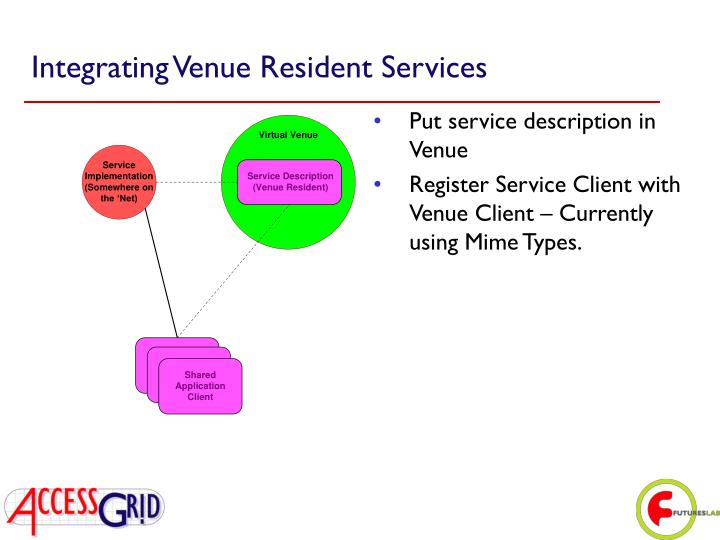 Integrating Venue Resident Services