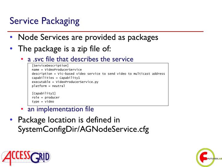 Service Packaging