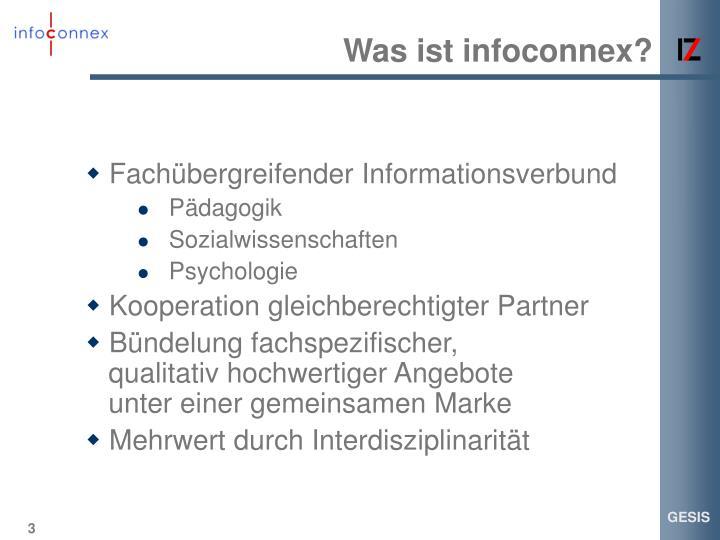 Was ist infoconnex