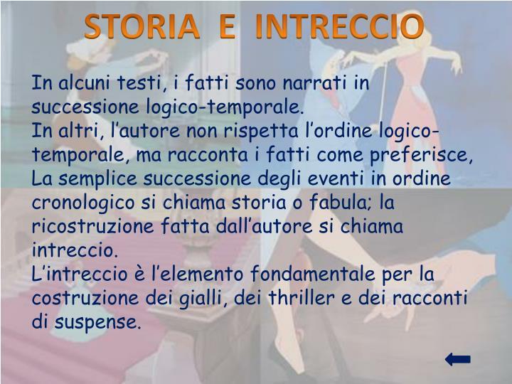 STORIA  E  INTRECCIO