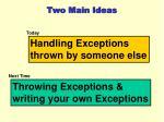 two main ideas