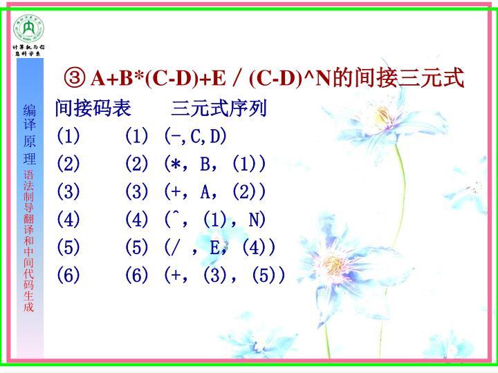 ③ A+B*(C-D)+E