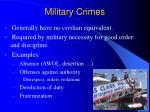 military crimes