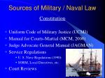 sources of military naval law