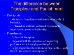 the difference between discipline and punishment