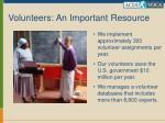 volunteers an important resource
