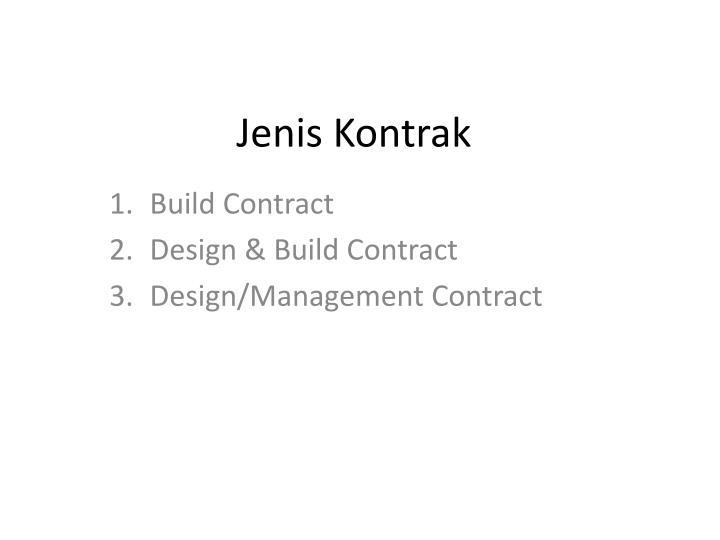 Jenis kontrak
