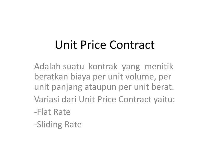Unit Price Contract
