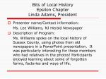 bits of local history epsilon chapter linda adams president