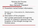 painting the process eta chapter mary zaccardi president